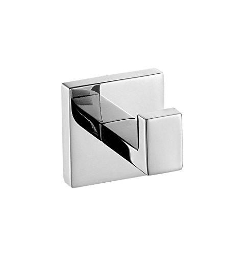 Weare Home Kleiderhaken SUS304 Edelstahl zur Wandmontage Bad-Serie Quadrat poliert für Kleidung Hüte und Mäntel