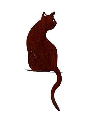 Katze sitzend - ganzjährige Rostdeko