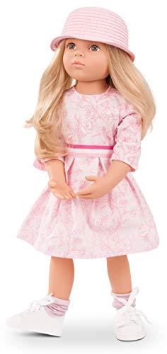 Götz 1766045 Happy Kidz Emma geht zur Sommerparty Puppe - 50 cm große Multigelenk-Stehpuppe, Blonde Haare, steingraue Augen - 8-teiliges Set