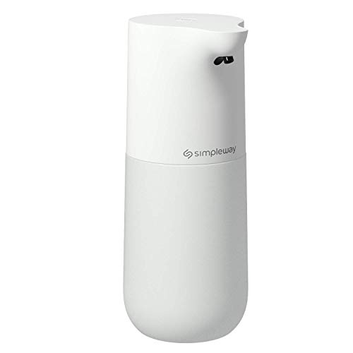 Simpleway Dispensador de jabón automático, dispensador de Lavado en Aerosol de Alcohol Recargable de 533 ml con Sensor de Movimiento de Alta Capacidad