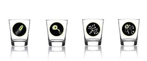 VOODOO ISLAND Set de 4 Verres à Shot 9 cl. modèle Bacterias
