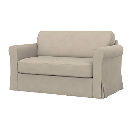 Soferia Replacement Cover for IKEA HAGALUND Sofa-Bed, Fabric Majestic Velvet Beige