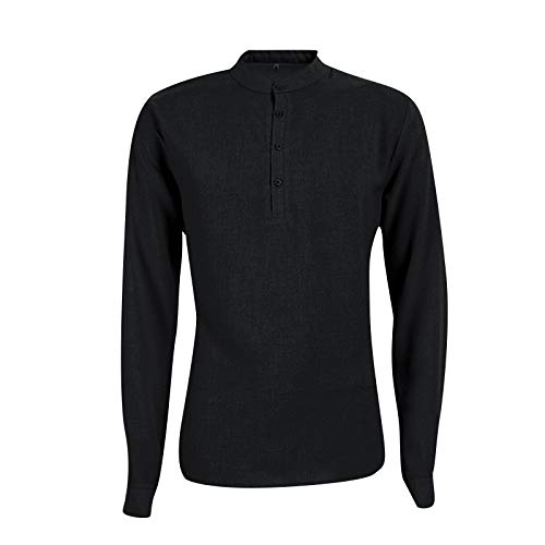 Tpingfe Men's Polo Shirts Dress Shirt Button Down Casual Basic Tee Shirt Slim Fit Tops Fashion Casual Tunic Top Autumn Black