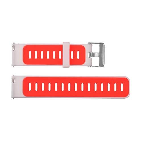 BZRXQR Liberación rápida For Huami Stratos Band Silicone Strap for Xiaomi Ambashit Stratos 2 2S 3 Pace GTR 47MM GTR 2 Pulsera de reemplazo Correa de Hombre (Color : Orange)