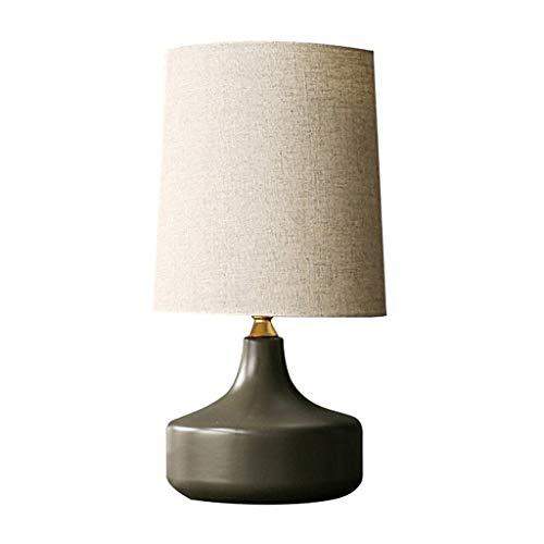 Lámparas de noche Inicio lámpara de mesa de estilo moderno de la sala dormitorio Mesita de luz de la lámpara de cerámica lámpara de mesa Lámpara de mesa de noche (Color : Black)