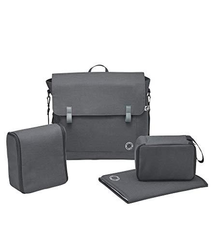 Maxi-Cosi 1632750110 Modern Bagpraktische Wickeltasche mit vielen extras, Thermobox, Wickelunterlage, Essential Graphite, grau, 1.3 kg