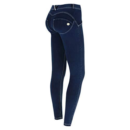 Freddy Damen Wrup1rc008 Hose, Blau (Jeans Scuro/Cuciture Bianche J0W), 38 (Herstellergröße: Medium)