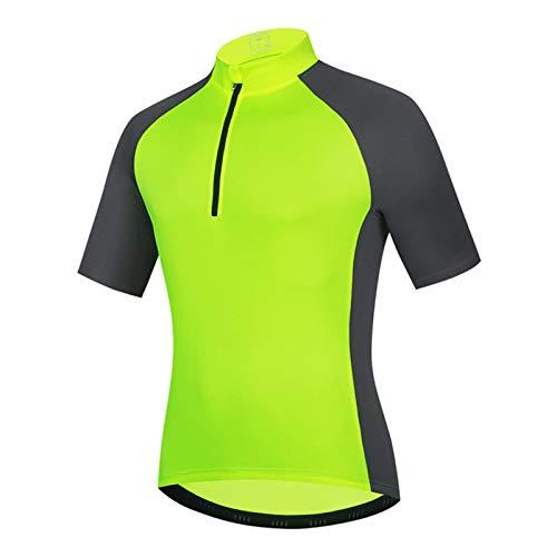Camisetas de Ciclismo para Hombre,T Shirts Manga Corta Ropa de Bicicleta Verano Deportes al Aire Libre Camiseta Superior Secado Rápido Transpirable(Size:L,Color:Verde)