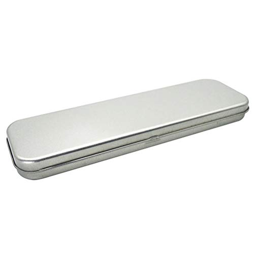 Estuche de metal para lápices de Toyandona, estuche rectang