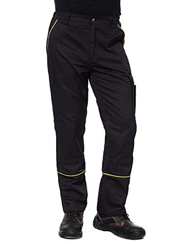 Pantaloni da Lavoro Extra Resistenti - con Tasche Multifunzione e Ginocchiera e Strisce Riflettenti - Stile Cargo - Uomo - Colori Diversi