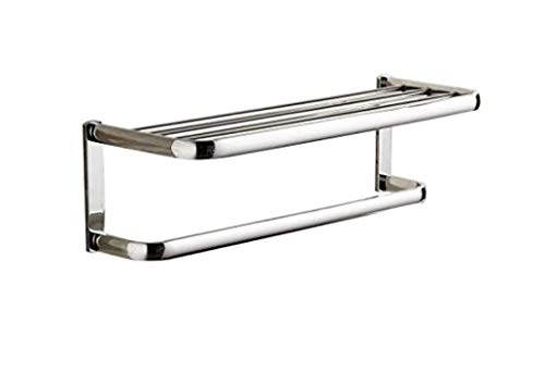 Meadows Wall Mounted Towel Holder & Organiser in Stainless Steel with Chromed Finish