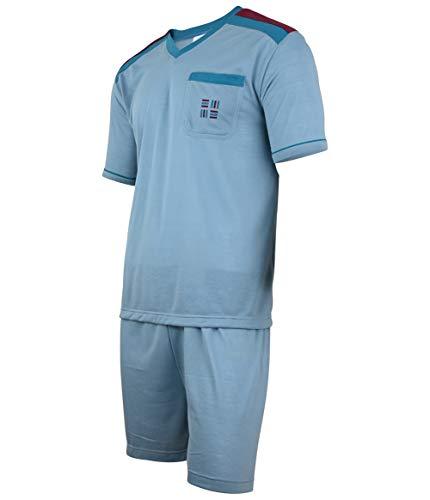 Soltice dwuczęściowa piżama męska, krótka piżama w zestawie, bielizna nocna w paski ze 100% bawełny (rozmiar M do 5XL)