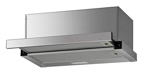 K&H® 60cm Dunstabzugshaube, Flachschirmhaube, LED, 300 m³/h, Edelstahl, EFH03-60AS-F-007