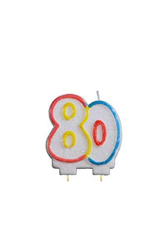 Bougie anniversaire nombre 80