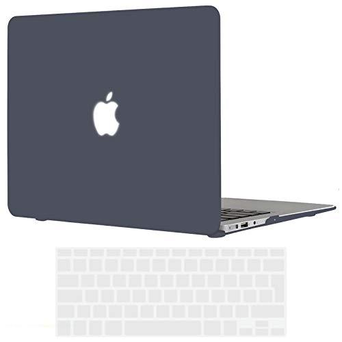 TECOOL Funda MacBook Air 13 Pulgadas (Versión: 2010-2017, Modelo: A1466 / A1369), Delgado Cubierta Plástico Dura Case Carcasa con Tapa del Teclado para MacBook Air 13.3 Pulgada - Negro Claro