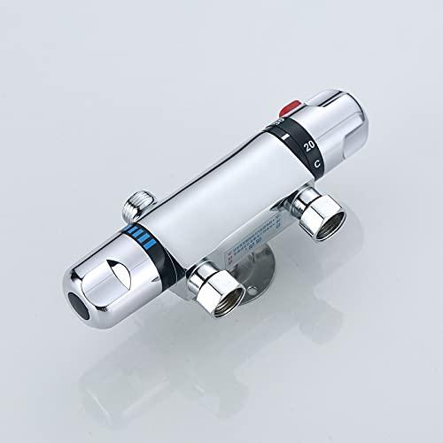 HYRGLIZI Válvula de Control de la Ducha de la Ducha de baño termostático Montado en la Pared de la Pared del Grifo Caliente y fría Mezclador de baños del baño Tap