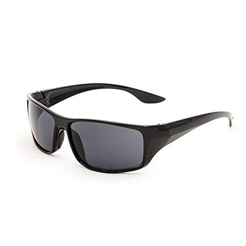 SENZHILINLIGHT Gafas de Sol Deportivas para Hombre con Montura 5380, Gafas de visión Nocturna Amarillas, Espejo de conducción Nocturna para Conductor, portátil