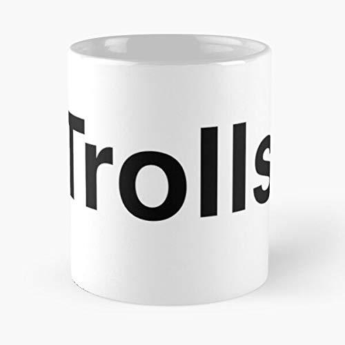 Trolls Trend Word - Taza de café de cerámica con texto en Twitter con texto tipografía Trends Best 11 oz