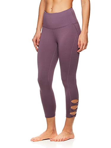Gaiam Women's High Rise Waist Yoga Pants - Performance Spandex Compression Leggings...