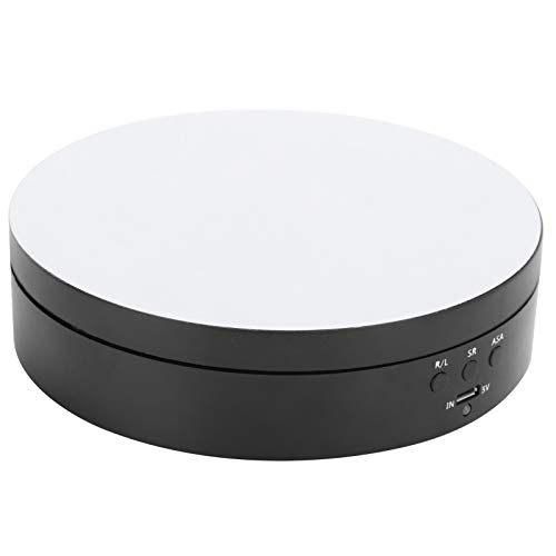 Pwshymi Plattenspieler-Schmuckhalter ungiftig, robust und langlebig Multifunktions-Drehständer Schmuckständer Schmuckständer ABS-Material Intelligenter Tischraum für zu Hause(Black)