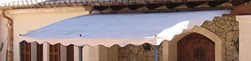QUICK STAR Ersatzdach Anbau Pergola Terrassenüberdachung Mallorca Sand