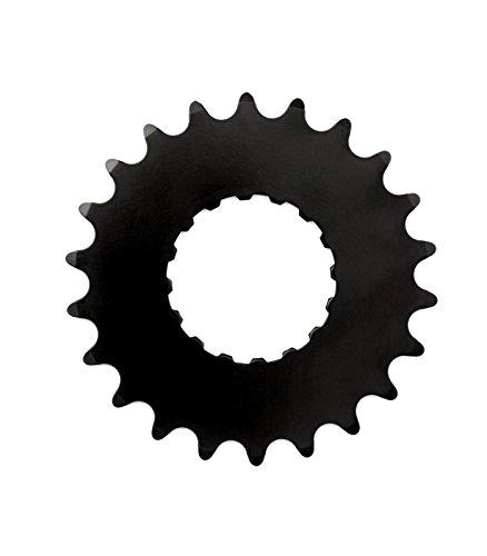 Miranda Unisex E Standard Stahl Ring E-Bike Kettenblatt, schwarz, 22T