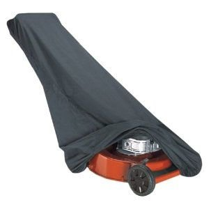 Heavy Duty Lawn Mower_Cover -- Color Black -- Protects Your Push, Gas, or Electric LawnMower from Weather