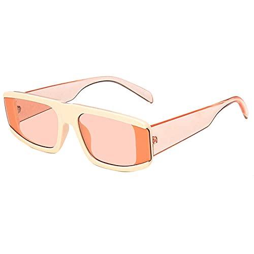WQZYY&ASDCD Gafas de Sol Gafas De Sol Redondas De Leopardo para Hombre Hip Pop, Gafas De Sol para Mujer, Lentes con Montura De Plástico para Hombre, Gafas Uv400 para Mujer, Naranja
