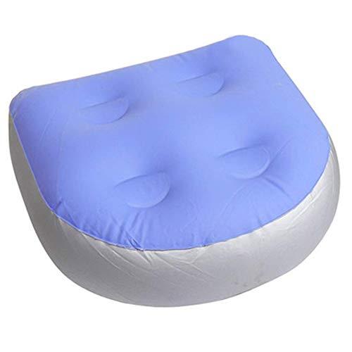 Isbasic Spa und Whirlpool Sitzkissen, aufblasbare Rückenkissen mit Saugnäpfen, Erwachsene und Kinder aufblasbare Kissen, geeignet für alle Familienbadewannen und Spas, etc.