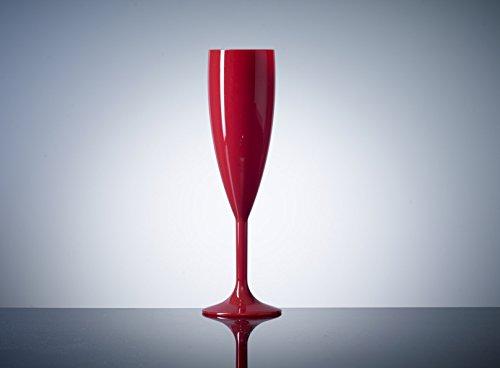 Rojo plástico policarbonato copas de champán, 12unidades, 6.6oz, catering calidad plástico...