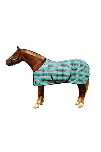 Kensington Platinum SureFit Protective Fly Sheet For Horses — SureFIt Cut With Snap Front Chest Closure — Made of Grooming Mesh This Sheet Offers Maximum Protection Year Round