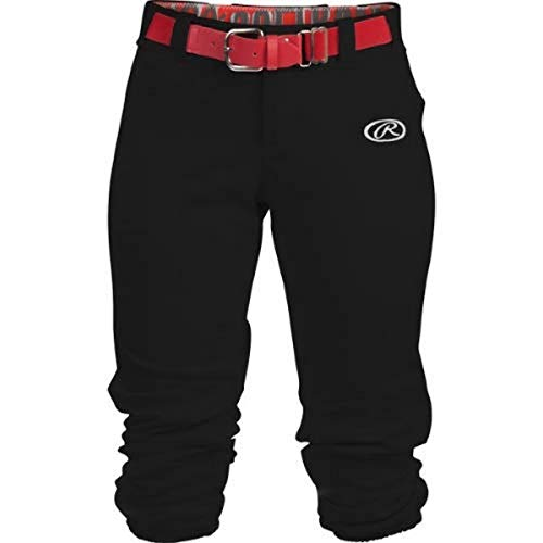 Launch Series Game/Practice Fastpitch Softball Pant, Adult, Solid Color, Black, Medium