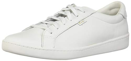 Keds Women's Ace Leather Sneaker, White/White, 6