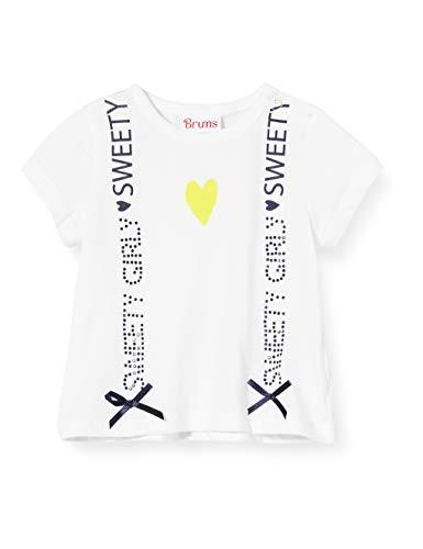 Brums T-Shirt Jersey con Fiocchetti, Bianco (Optical White 01 001), 68 (Taglia Unica: 6M) Bimba