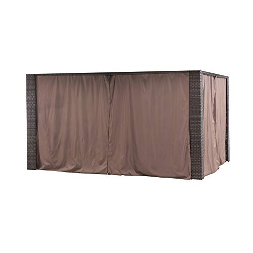 Sunjoy A111303300 Original Replacement Curtain for Riviera Gazebo (10X12 Ft) L-GZ815PST Sold at BigLots, Khaki