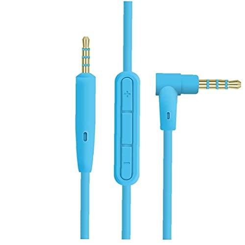 Cable de Cables Auriculares Auriculares Auriculares Auriculares con micrófono de 2.5 mm a 3,5 mm Jack Azul