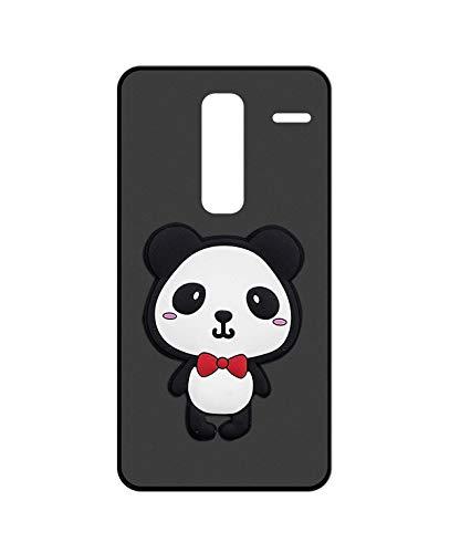 Sunrive Kompatibel mit LG Class (H650E) Hülle Silikon, Handyhülle matt Schutzhülle Etui 3D Hülle Backcover (W2 Panda 1) MEHRWEG+Gratis Universal Eingabestift