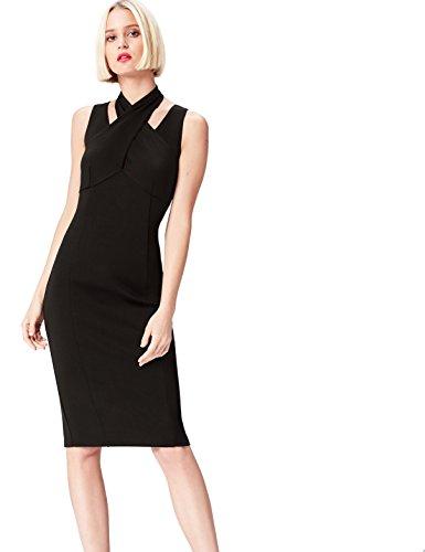 find. 13646 vestiti da sera donna eleganti, Nero (Black), 46 (Taglia Produttore: Large)