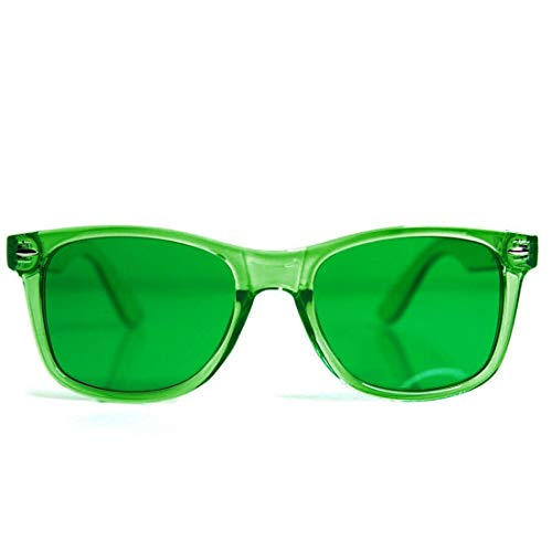 Discover Bargain GloFX Green Color Therapy Glasses Migraine Glasses Chakra Relax Glasses