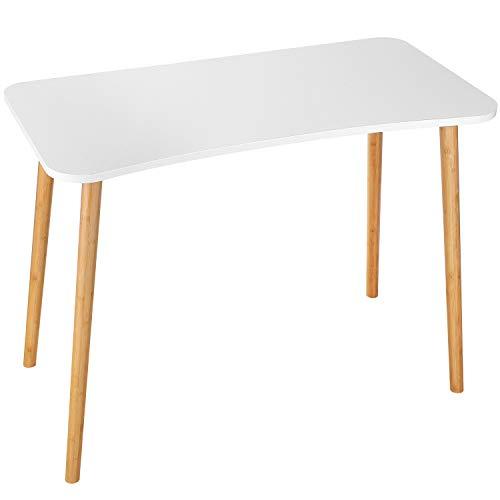 Homfa Schreibtisch weiß 100x50x75cm Konferenztisch Computertisch Esstisch Küchentisch Esszimmertisch Arbeitstisch Bürotisch holz Nordischen Stil modern