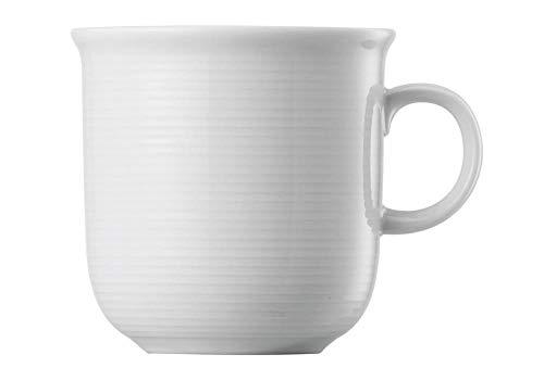Becher mit Henkel - Riesige Auswahl - Henkelbecher Mugge Humpen Haferl Tasse Kaffeetasse Frühstückstasse (Trend Weiß, 4)