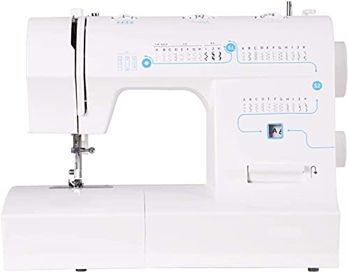 Máquina de coser Portátil Máquina de coser eléctrica Velocidad ajustable portátil, fabricación de múltiples funciones for el hogar Máquinas de coser for principiantes de adultos (33 puntadas, pedal, l