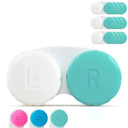 Tampen Kontaktlinsenbehälter Set · 12 Stück · Kontaktlinsendose Jahresvorrat · ideal für unterwegs · Hygiene · Grün