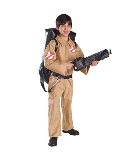 Ghostbusters Classic 80s Costume for Boys in 3 Sizes (Jumpsuit and Backpack)