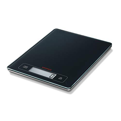 Soehnle Page Profi Pesa Alimenti Elettronica, Metallo e Vetro, Nero (Antracite), 30.5 x 24 x 3.5 cm