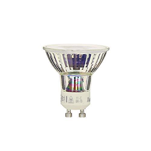Ampoule LED Spot GU10 Classique Culot GU10 - Spot LED Ampoule GU10 Angle d'éclairage 36° - Ampoule GU10 LED 5,6W équivalant 50W 345 Lumens - Ampoule LED GU10 Lumière Blanc Chaud - VG50S Xanlite