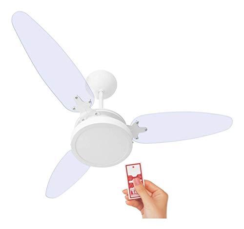Ventilador De Teto Wind Light Transparente Plafon Led 18w Ponente Controle Remoto