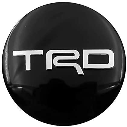 Cubierta de rueda 4pc TRD Racing cubierta de rueda cubierta de rueda pegatina cubo de rueda cubierta antipolvo piezas de automóvil para Toyota 56,5 mm c