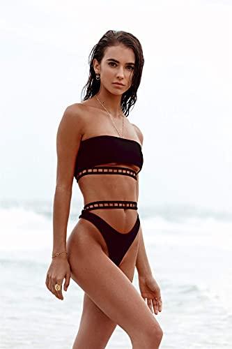 Gcxzb BañAdores Mujer Bikinis de Cintura Alta de Mujer Bikinis Vintage Tankini...