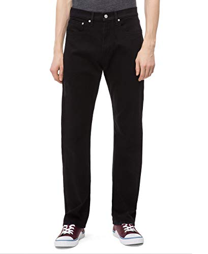 Calvin Klein Men's Relaxed Straight Fit Jeans, Forever Black, 32W x 32L